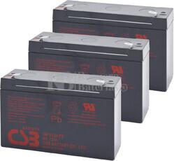 Baterías de sustitución para SAI TRIPP LITE OMNISMART1050PNP 3xGP6120