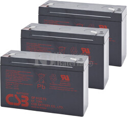 Baterías de sustitución para SAI TRIPP LITE OMNISMART850PNP 3xGP6120