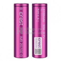 Baterías Efest IMR 20700 3.100 mA 30A (2U)