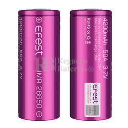 2 Baterías Efest IMR 26650 4200mAh 50 Amperios