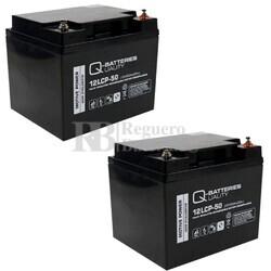 2 Baterías Silla Movilidad 12 Voltios 50 Amperios 12LCP-50 Cíclica