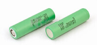 Kit 2 baterías litio para Vaper INR18650 R-25 3.6 Voltios 2.500 mAh