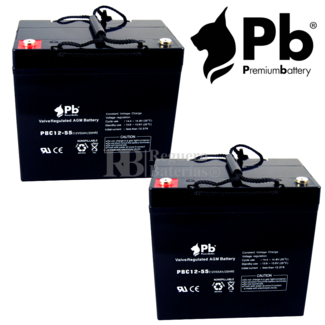 Baterías para Invacare Flyer de GEL 12V 55AH