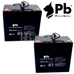 Baterías para Pride Mobility Hurricane PMV5001 de GEL 12V 55AH