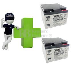 Baterías para silla de ruedas 12 Voltios 26 Amperios YUASA REC26-12