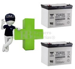 Baterías para silla de ruedas 12 Voltios 36 Amperios YUASA REC36-12I