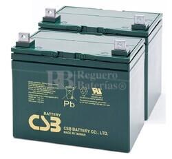 Baterías para silla de ruedas 12 Voltios 39 Amperios CSB EVH12390