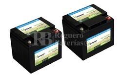 Baterías Litio Silla de Ruedas 12 Voltios 50 Amperios con control Bluetooth UE-12Li50BL