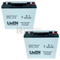 Baterías Scooter 12 Voltios 22 Amperios LVH12-88 Liven Battery