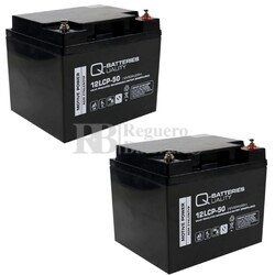Baterías Scooter 12 Voltios 50 Amperios 12LCP-50 Cíclica