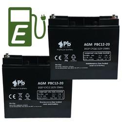 Baterías Silla de Ruedas 12 Voltios 20 Amperios