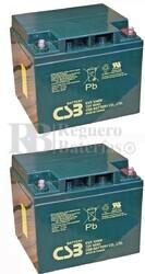 Baterías silla Movilidad 12 Voltios 40 Amperios CSB EVX12400