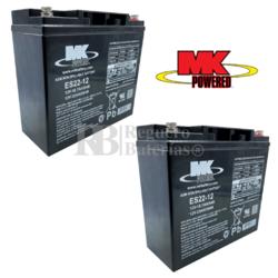 Baterías Silla Movilidad 12 Voltios 22 Amperios MK ES22-12