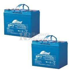 Baterías Silla Movilidad 12 Voltios 35 Amperios DC35-12A Fullriver