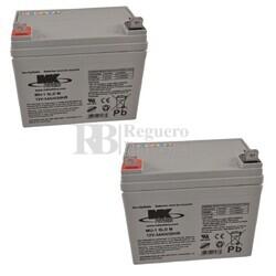 Baterías Silla Movilidad 12 Voltios 35 Amperios MK MU1SLD-M2
