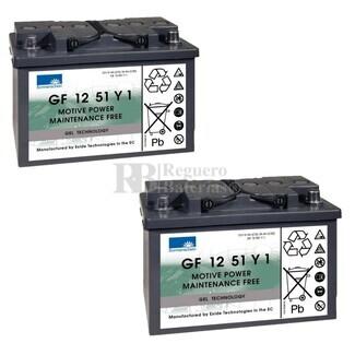 Baterías Silla Movilidad 12V 56A Gel Dryfit GF12051Y1 Sonnenschein