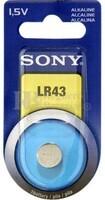 Blister 1 pila alcalina  Sony  LR43 (calculadoras, videojuegos, alarmas, etc.)