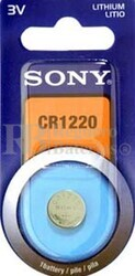 Blister 1 pila Sony CR1220 Litio ( 12.50 d . x 2 alt . ) 3 v . 38 mAh .