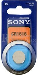 Blister 1 pila Sony CR1616 Litio (16 d . x 1.60 alt . ) 3 v . 42 mAh .