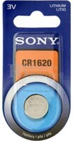 Blister 1 pila Sony CR1620 Litio ( 16 d . x 2 alt . ) 3 v .  42 mAh .