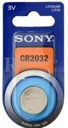 Blister 1 pila Sony  CR2032 Litio ( 20 d . x 3.20 alt . )  3 v .  220 mAh .