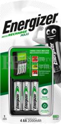 4 Baterías AA 2.000 mAh Energizer y cargador Maxi Charger