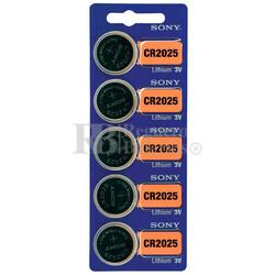 Blister 5 pilas  Sony CR2025 Litio ( 20 d . x 2.50 alt . ) 3 v . 160 mAh .