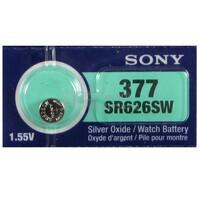Blister pila Sony reloj SR 626 SW , SR 62 , 377 oxido de plata
