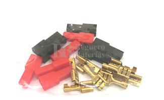 Bolsa 10 terminales faston 6.35mm 5 rojos y 5 negros