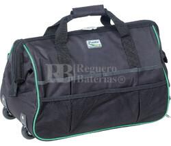 Bolsa de herramientas con asa telescópica y ruedas, máx 30kg