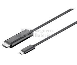 Cable adaptador USB C 3.1 Macho a Macho HDMI 4K, 1.8m