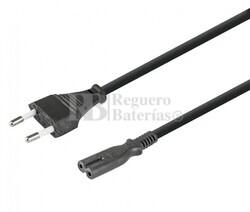 Cable alimentación Schuko acodado CEE7/7 a hilos sueltos 1.8 metros