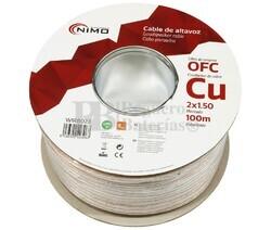 Cable altavoz Cobre 2x1.5mm Transparente Libre Oxígeno 100m
