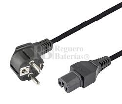 Cable de alimentación para ordenadores con muesca 1,8m