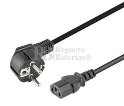 Cable de alimentación Schuko acodado CEE7/7 a IEC320-C13 2.5 metros