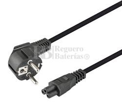 Cable de alimentación Schuko acodado CEE7/7 a IEC320-C5 2 metros