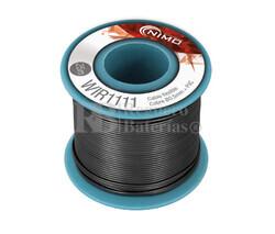 Cable flexible 0,5mm, cobre estañado, Negro 25m