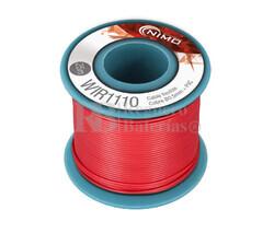 Cable flexible 0,5mm, cobre estañado, Rojo 25m