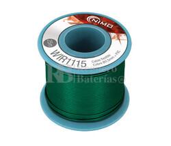 Cable flexible 0,5mm, cobre estañado, Verde 25m