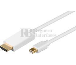 Cable Mini DisplayPort macho a HDMI macho 1m