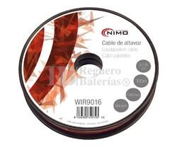 Cable para altavoz 2x0.35mm, Rojo-Negro 100m