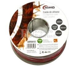 Cable para altavoz 2x0.5mm, Rojo-Negro 100m