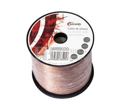 Cable para altavoz 2x0.5mm, Transparente polarizado 100m