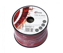 Cable para altavoz 2x0.75mm, Rojo-Negro 100m