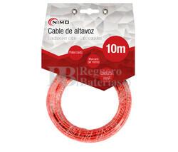 Cable para altavoz 2x0.75mm, Rojo-Negro 10m