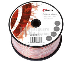 Cable para altavoz 2x0.75mm, Transparente polarizado 100m