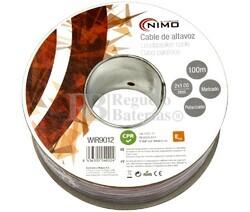Cable para altavoz 2x1.0mm, Rojo-Negro 100m