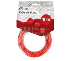 Cable para altavoz 2x1.0mm, Rojo-Negro 10m