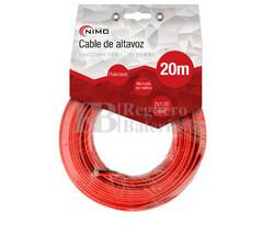 Cable para altavoz 2x1.0mm, Rojo-Negro 20m