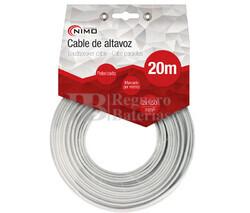 Cable para altavoz 2x1.5mm, Blanco polarizado 20m